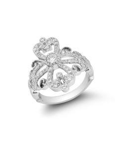Chad Allison 18KWG Fancy Diamond Ring 0.59 Carat