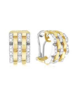 "Chimento 18 Karat Two-Tone Gold ""Double Yellow"" Earrings with Diamond"