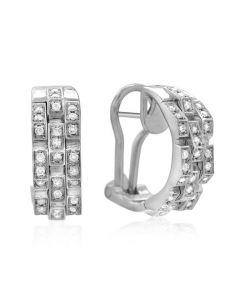 "Chimento 18 Karat White Gold Diamond ""Double"" Earrings"