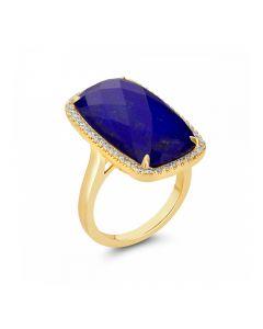 Doves 18KYG Lapis Lazuli Ring