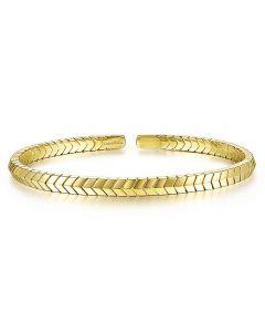Gabriel & Co 14K Yellow Gold Chevron Cuff Bracelet