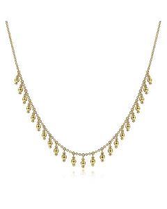 Gabriel & Co 14K Yellow Gold Dangle Beads Choker Necklace