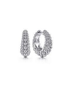 Gabriel & Co Sterling Silver 20MM Multi Row Bujukan Hoop Earrings
