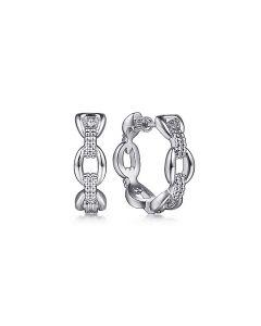 Gabriel & Co Sterling Silver 20MM Oval Link Hoop Earrings