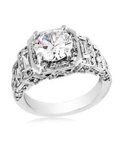 Gregg Ruth Platinum Tier Diamond Semi-Mount