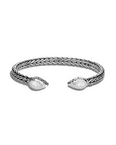 John Hardy Sterling Classic Chain Hammered Tip Cuff