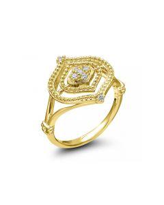 Judith Ripka 18KYG Stella Collection Diamond Set Ring