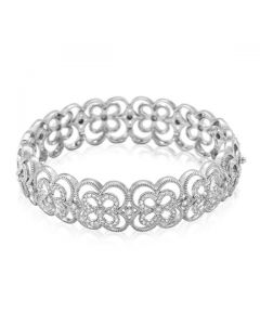 Leslie Greene 18 Karat White Gold Patina Emilia Cuff Bracelet