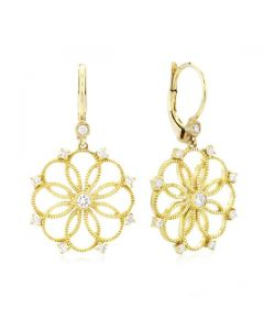 Leslie Greene 18 Karat Yellow Gold Nolita Dangle Earrings