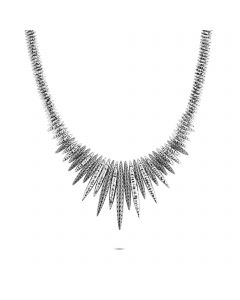 John Hardy Classic Chain Hammered Spear Bib Necklace