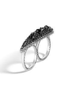 John Hardy Classic Chain Black Sapphire/Black Spinel Ring