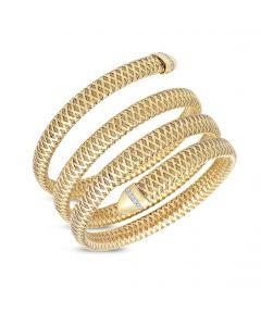 Roberto Coin 18KYG Primavera Flex 4-Row Coil Bracelet