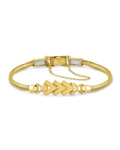 Kaspar & Esh 14K Yellow Gold 3 Chevron Link Bracelet