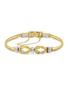 Kaspar & Esh 14K Yellow Diamond Accent Infinity Starter Link Bracelet
