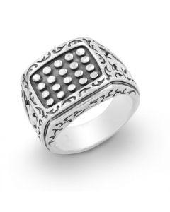 Scott Kay Sterling Silver Unkaged Men's Rivet Ring