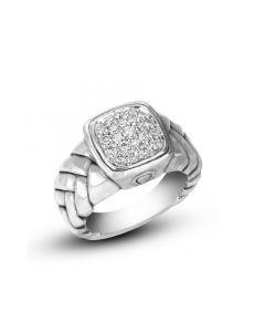 Scott Kay Sterling Silver Medium Square Cushion Diamond Ring