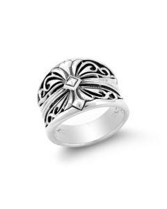Scott Kay Sterling Silver Unkaged Men's Sparta Engraved Ring