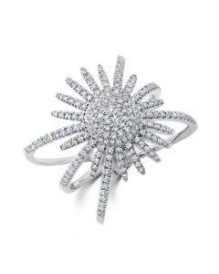 Shy Creation 14KWG Kate Starburst Ring