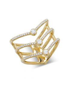 Shy Creation 14KYG Kate Chevron Ring