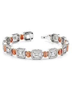 Simon G. 18K Two-Tone Pink and White Diamond Bracelet
