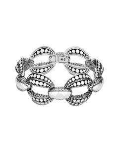 John Hardy Sterling Dot Hammered Link Bracelet