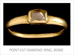 Point Cut Diamond, Ring, Rome