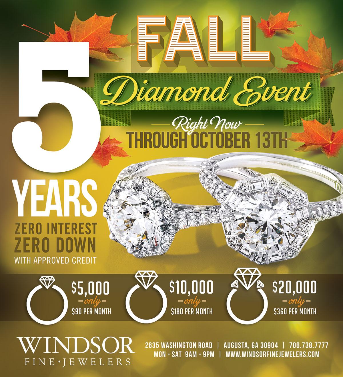 Fall Diamond Event   Windsor Fine Jewelers